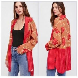 Free People Forget Me Knot Kimono Floral